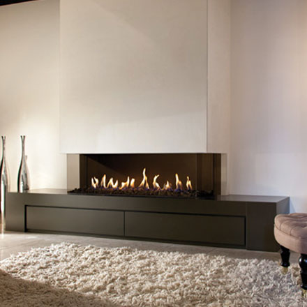 LINEAFIRE UK Gas Fireplace 3-Sided 150