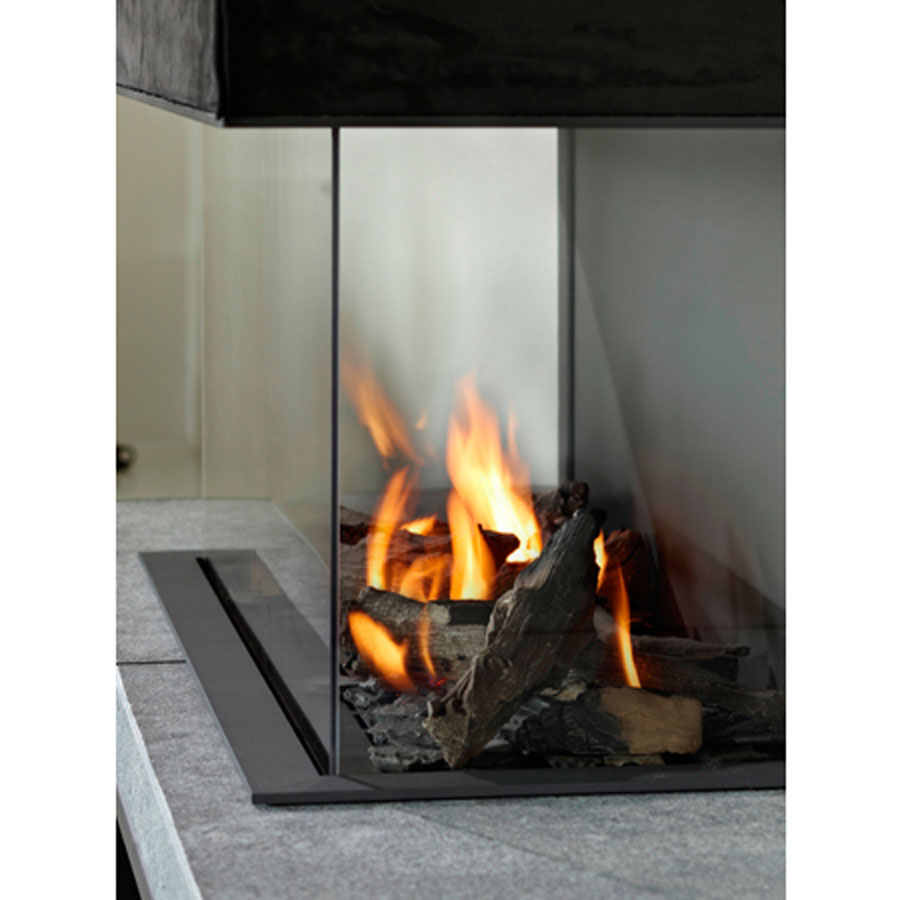 Lineafire Fireplaces 3 Sided 70 Wood And Gas Fireplaces Cheminee Stones Lebanon