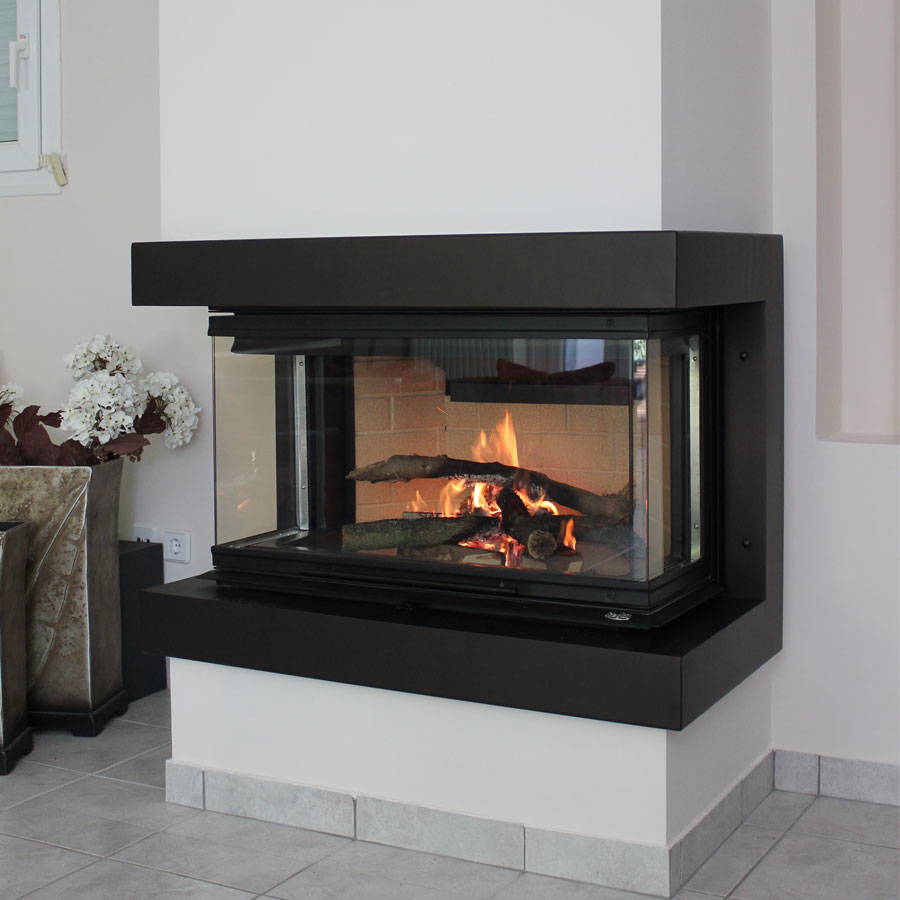 Regal fireplaces 3 sided 90 for 3 sided fireplaces
