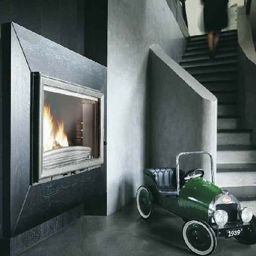 invicta fireplaces wide view 700 side wood and gas. Black Bedroom Furniture Sets. Home Design Ideas