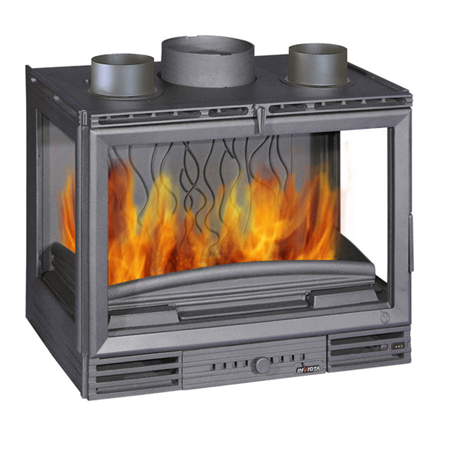 invicta fireplaces turbo 3 sided 700 wood and gas. Black Bedroom Furniture Sets. Home Design Ideas