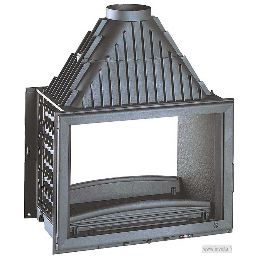 Invicta fireplaces wide view 800 double sided 80 cm for Double sided fireplace price