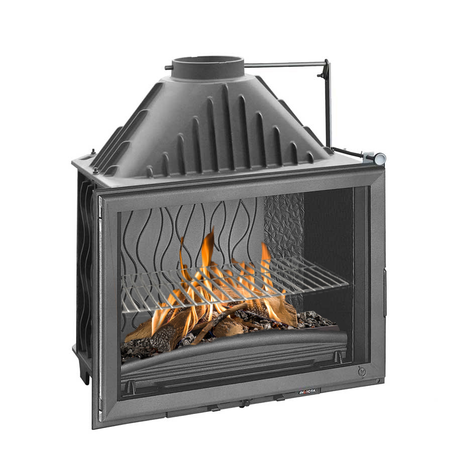 INVICTA FRANCE Wood Fireplace Wide View 80 with valve Lateral