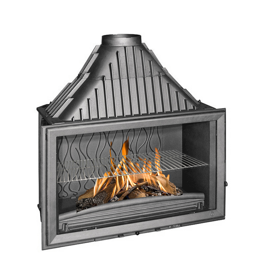 INVICTA FRANCE Wood Fireplace Wide View 90 Lateral
