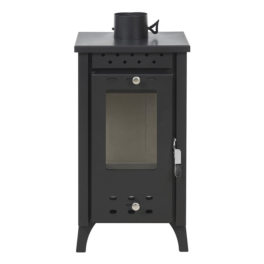 GEKAS GREECE Wood Stove with Oven MG 100 Black