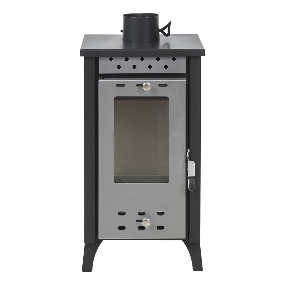 GEKAS GREECE Wood Stove with Oven MG 100 Silver