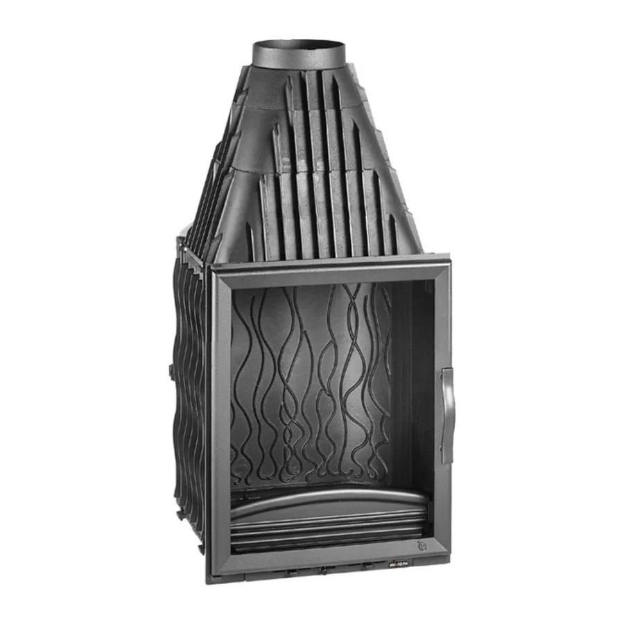 INVICTA FRANCE Wood Fireplace Vertical 84 Lateral