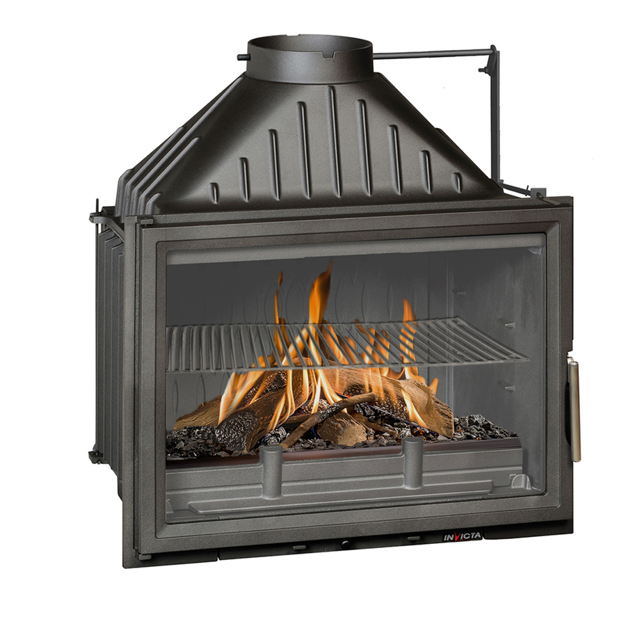 INVICTA FRANCE Wood Fireplace Wide View 70 with Valve Lateral