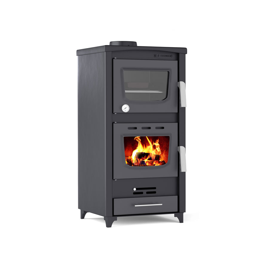 THERMIKI Wood Stove with Oven 90-25