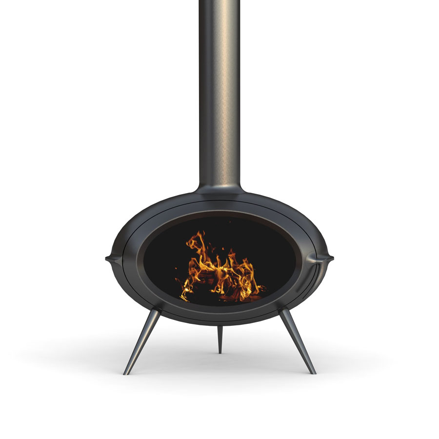 INVICTA FRANCE Wood Stove Brio 3 Pied Central