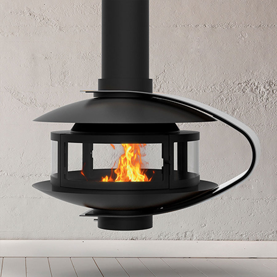 TRAFORART SPAIN Wood Fire Central Fanny Black