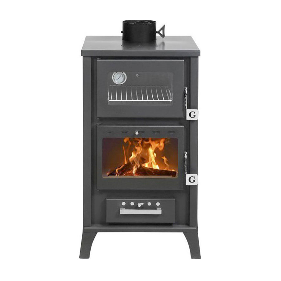 GEKAS GREECE Wood Stove with Oven MG 400 Black