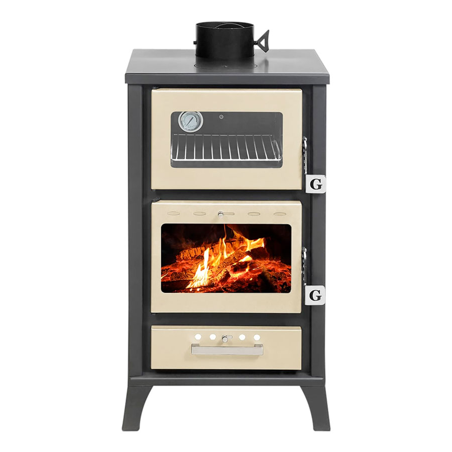 GEKAS GREECE Wood Stove with Oven MG 400 Beige