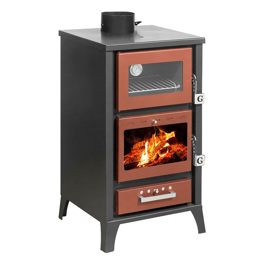 GEKAS GREECE Wood Stove with Oven MG 400 Red