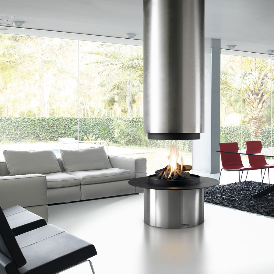TRAFORART SPAIN Wood Fire Central Diamante Without Glass Stai