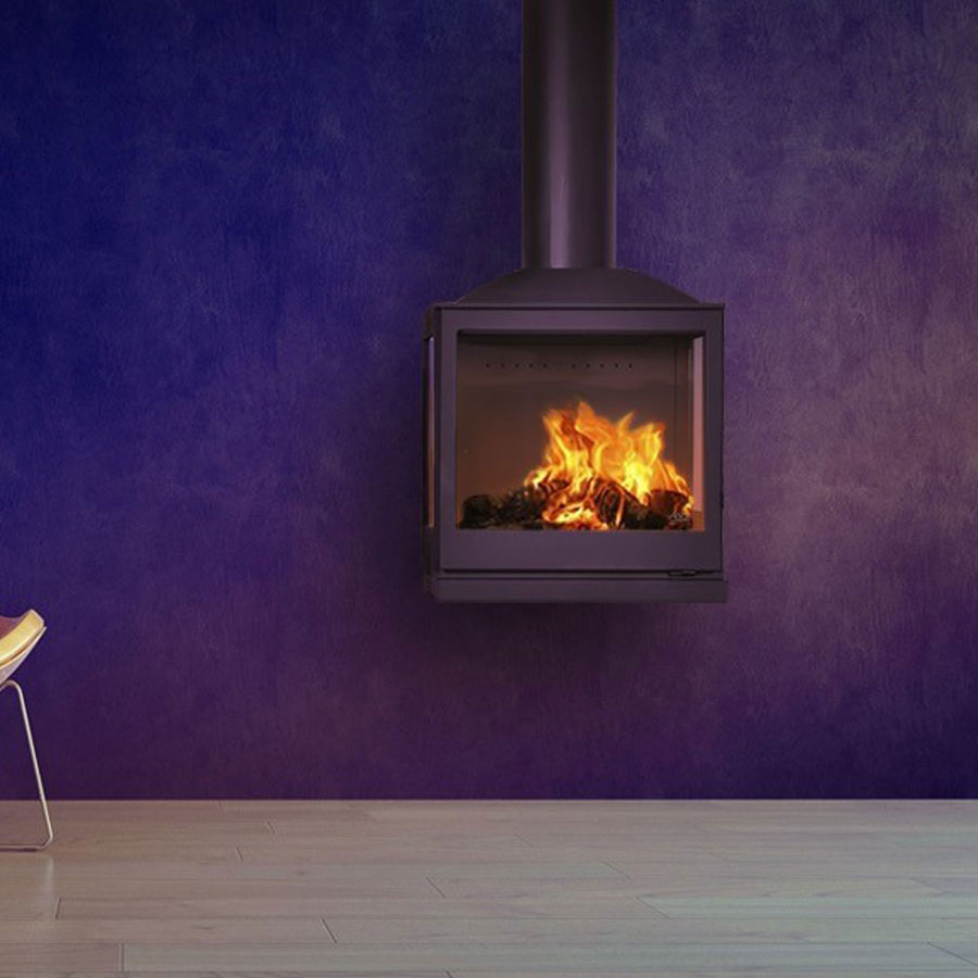 LISEO CZECH Wood Fire Frontal 3-Sided 55
