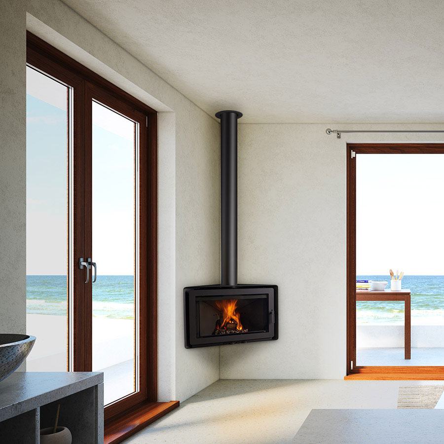 ROCAL Wood Fireplace Frontal Angle X1330