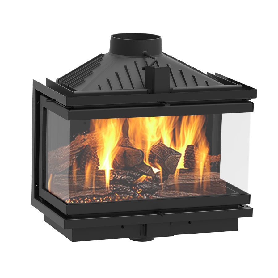 KFD Wood Fireplace 3 Sides Eco Max 7