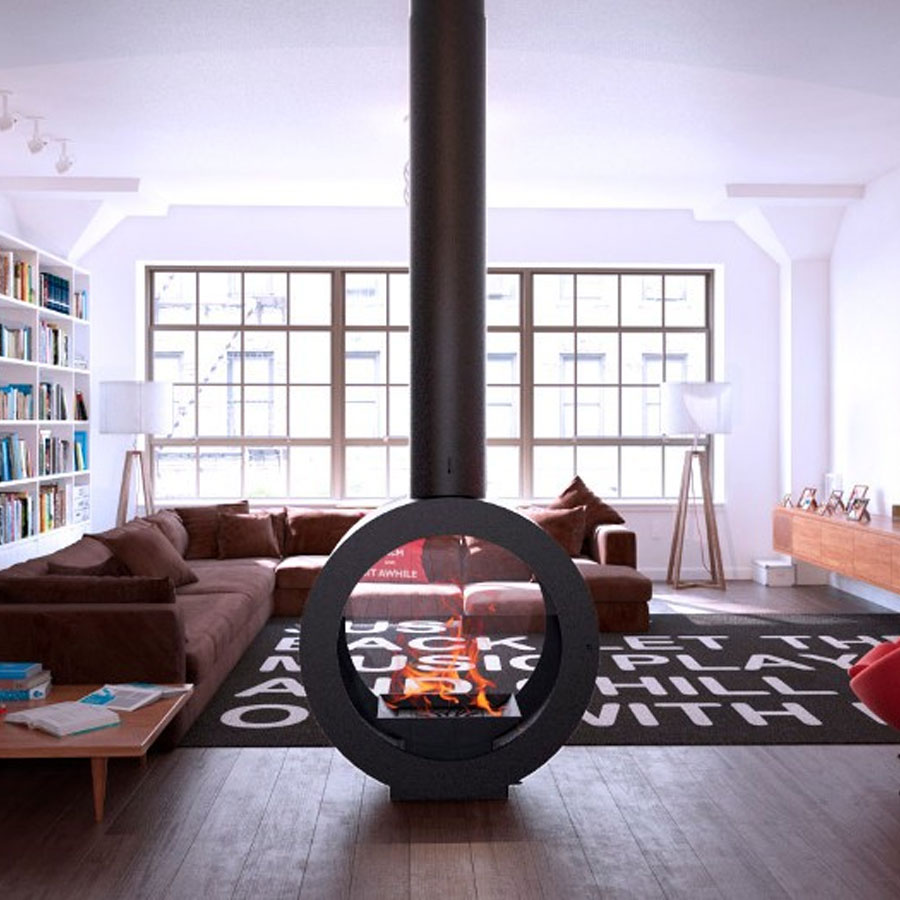 CLDESIGN SPAIN Wood Fire Omincentral + Rotation 360 Dg