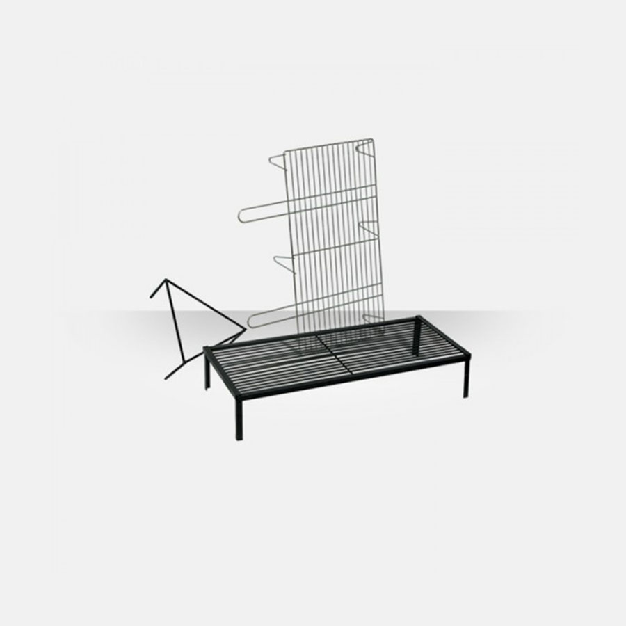THERMOZEL GREECE BBQ Grill Galvanized For Barbecue 40X80 cm