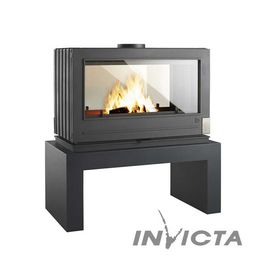 Invicta fireplaces aaron double sided for Double sided fireplace price