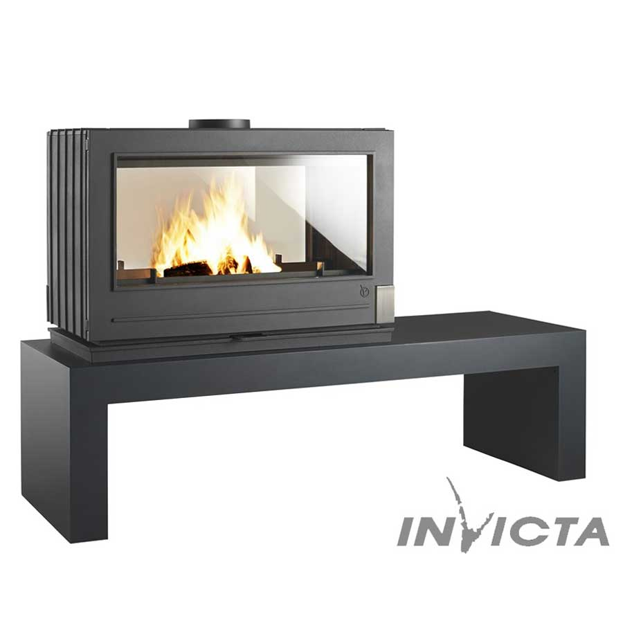 invicta fireplaces aaron double sided wood and gas. Black Bedroom Furniture Sets. Home Design Ideas
