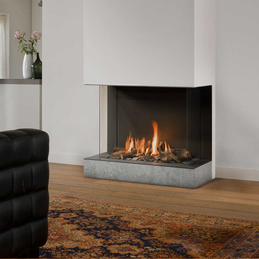 BELLFIRES HOLLAND Gas Fireplace 3-Sided View Bell Derby 3, Panel
