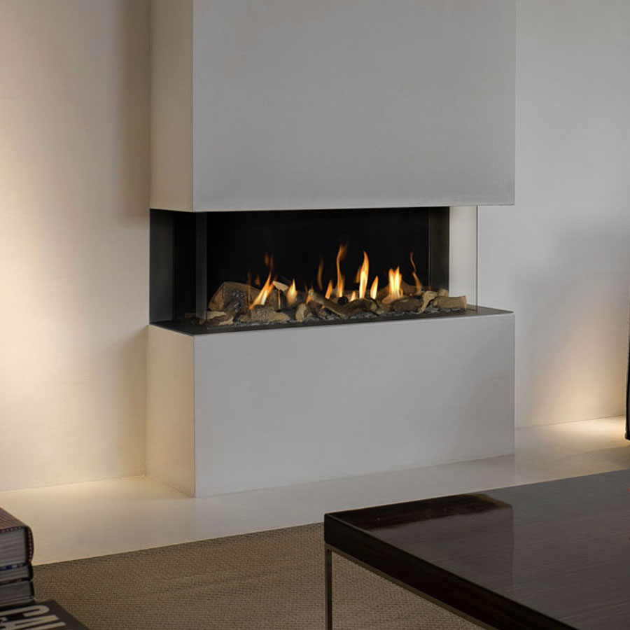 BELLFIRES HOLLAND Gas Fireplace 3-Sided View Bell Medium 3, Panel