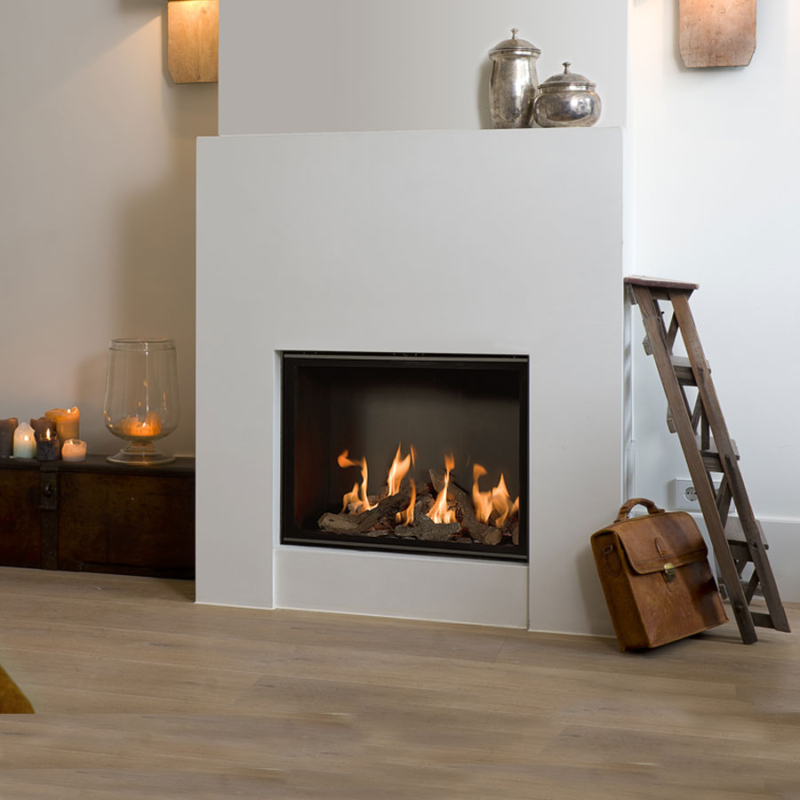 BELLFIRES HOLLAND Gas Fireplace Square Derby Large3, Floating Frame