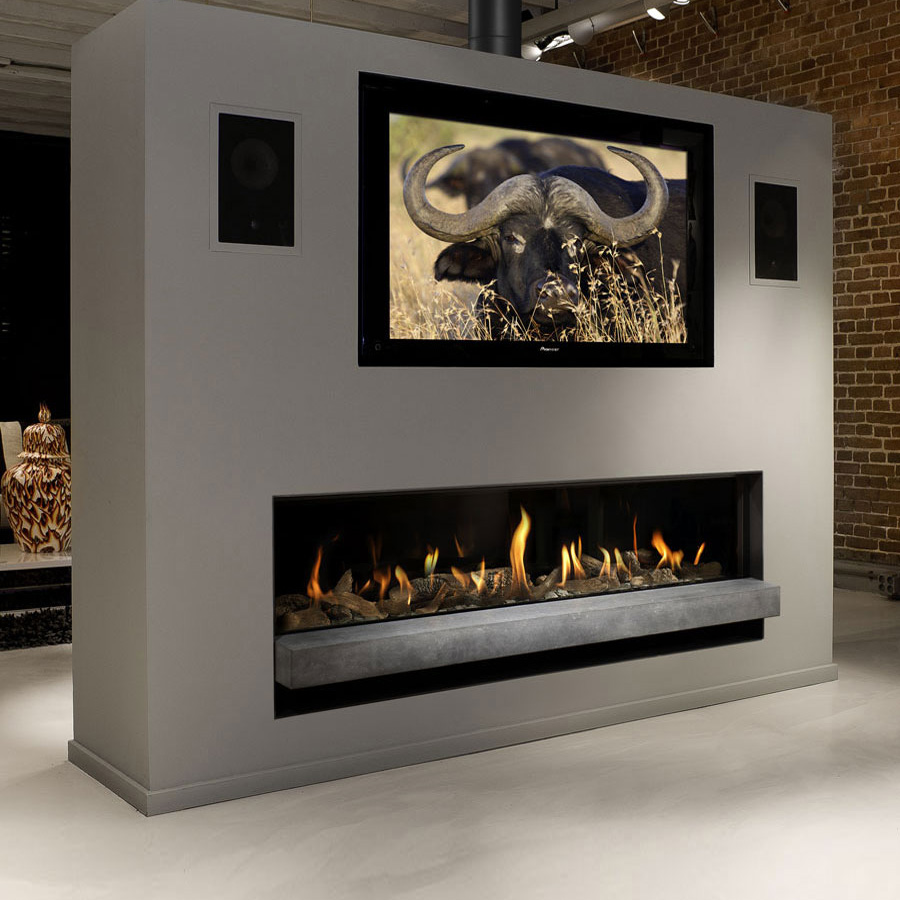 BELLFIRES HOLLAND Gas Fireplace Horizon Bell XXL3, Floating Frame, P