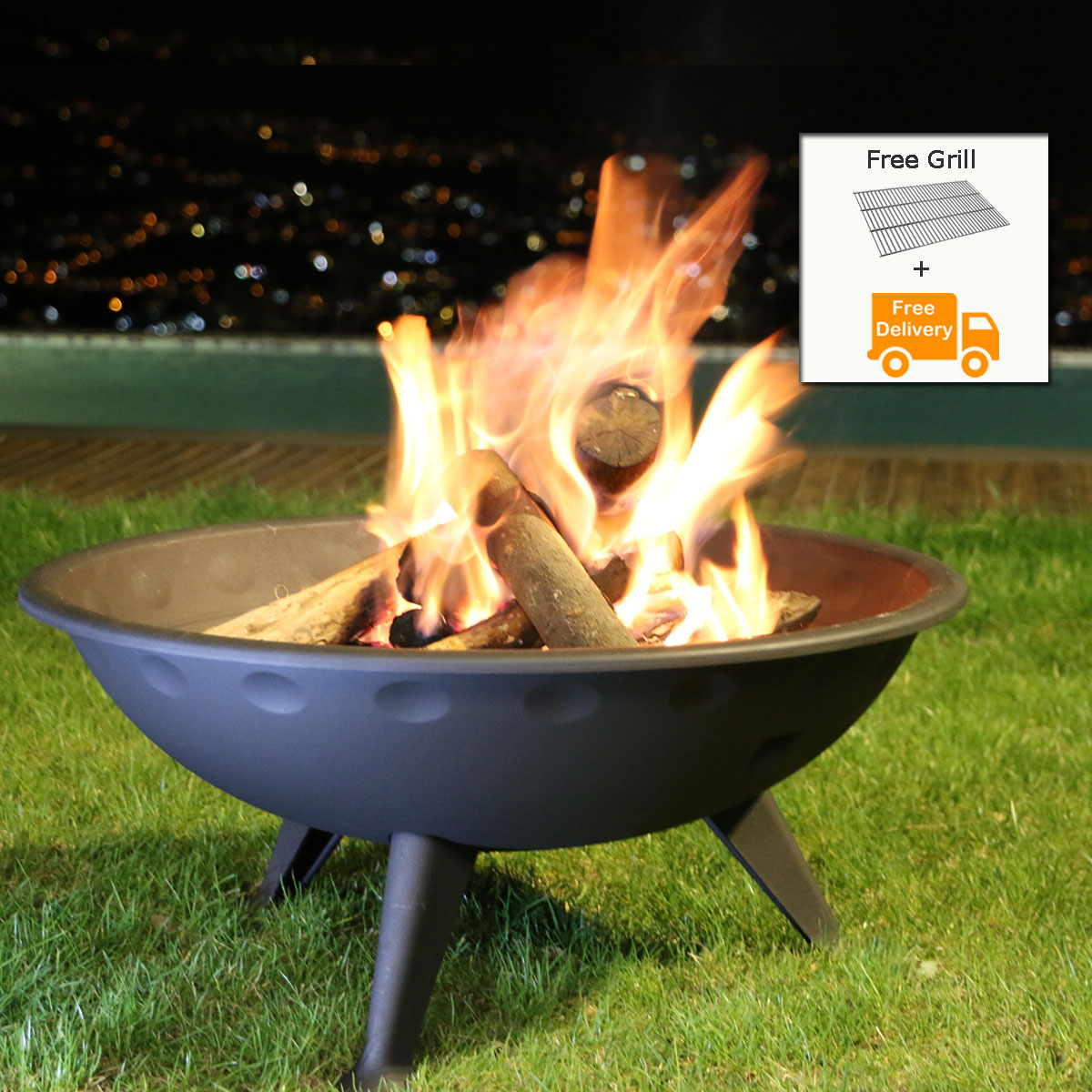 INVICTA FRANCE Outdoor Fireplace Brasero Iowa