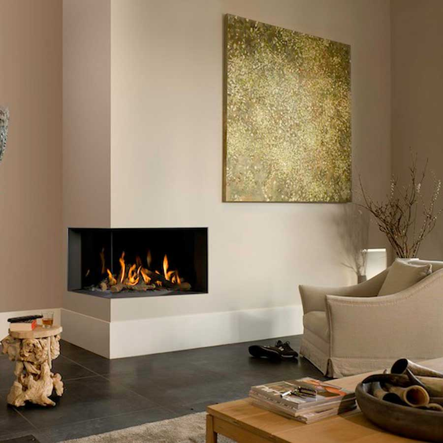 BELLFIRES Fireplaces Corner Bell Medium 3 Left Wood And