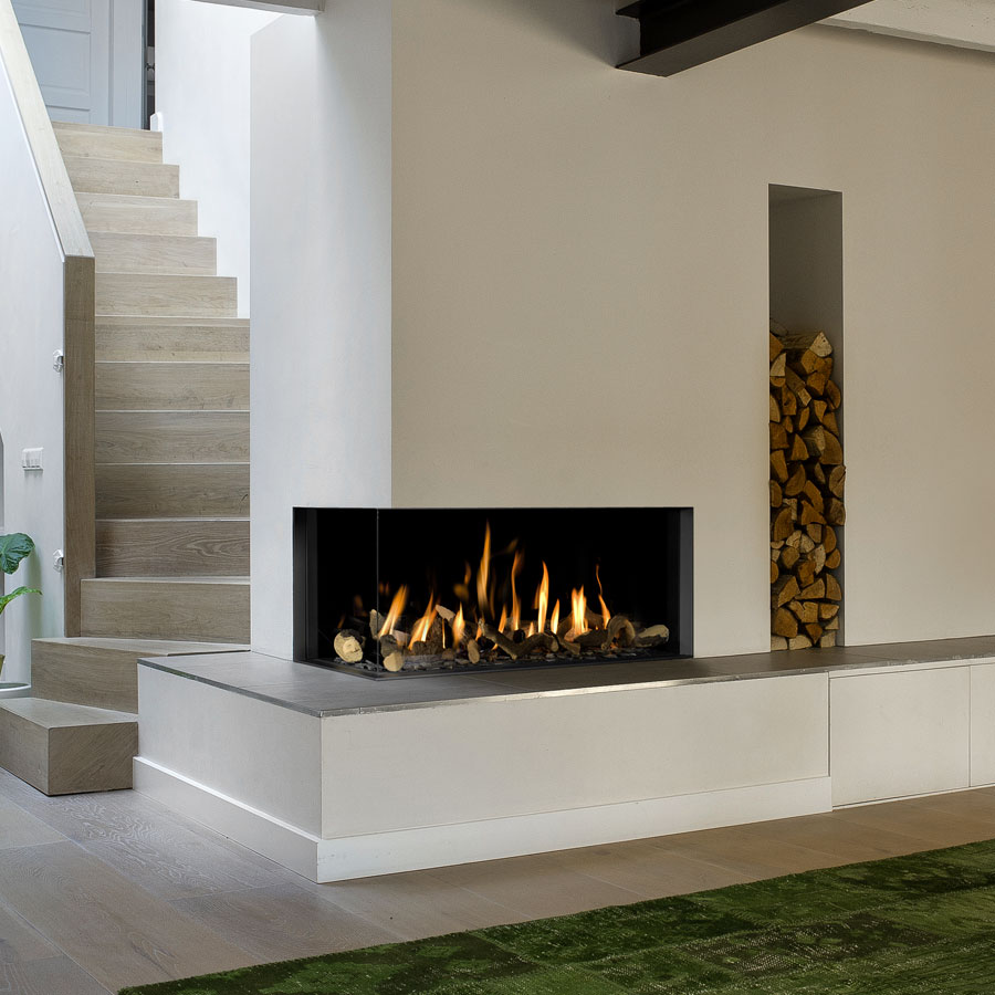 BELLFIRES Fireplaces Corner Bell Medium 3 Left (104 cm)