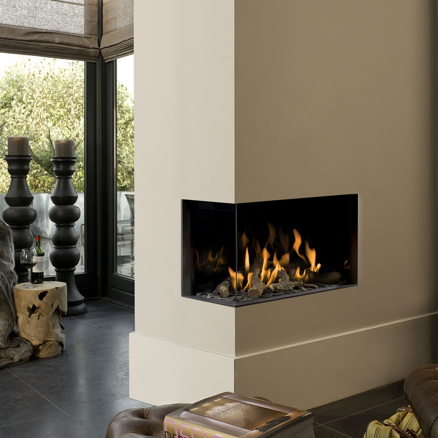 BELLFIRES Fireplaces Corner Bell Small 3 Left (78 cm)