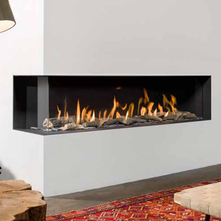 BELLFIRES HOLLAND Gas Fireplace Corner left XXL 3, Hidden Door