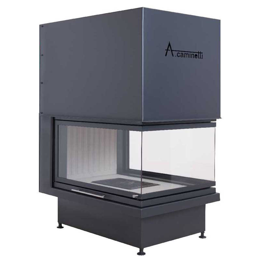 Acaminetti Wood Fireplace Room Divider Crystal 3d Max
