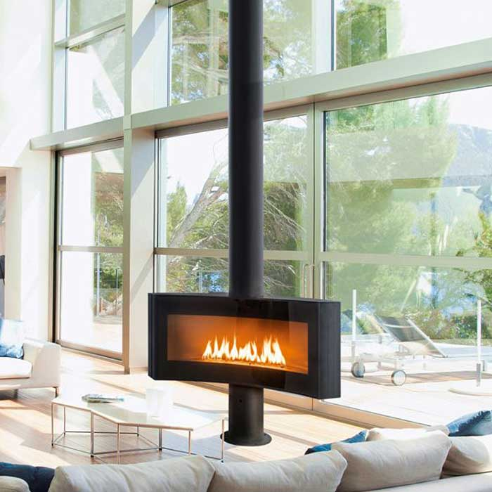 Focus Gas Fire Central Curvifocus