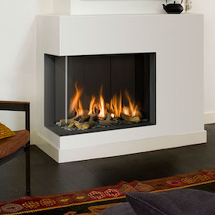 BELLFIRES HOLLAND Gas Fireplace Corner Left Bell Derby