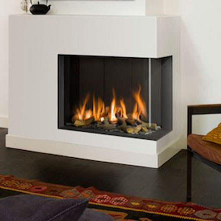 BELLFIRES HOLLAND Gas Fireplace Corner Right Bell Derby
