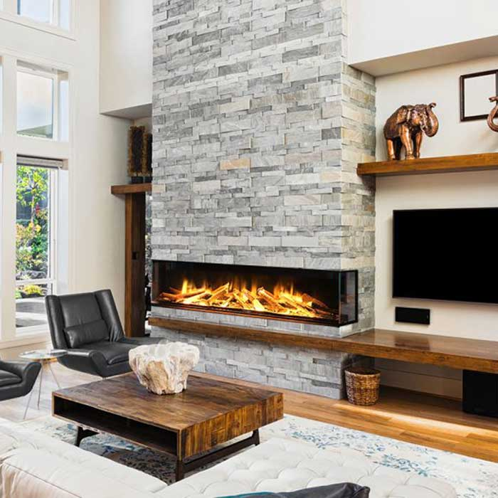 EVONIC UK Electric Fireplace 3 Sides