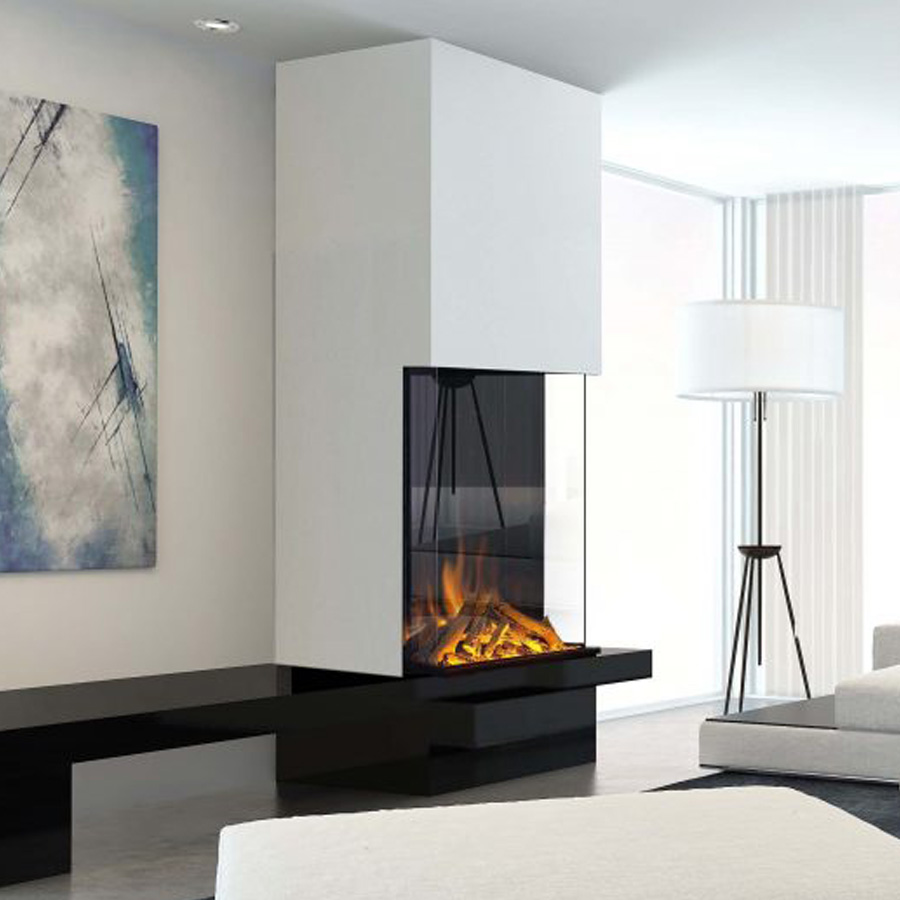 EVONIC UK Electric Fireplace 3 sides Vertical