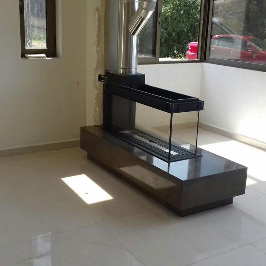 Lineafire fireplaces room divider medium for Fireplace room divider