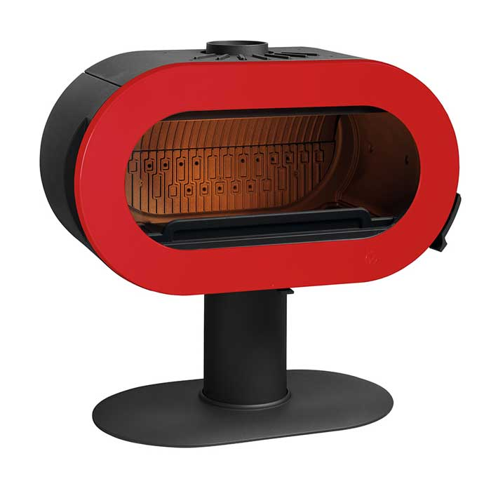 INVICTA Wood Stove Fifty Sur Pied Rouge