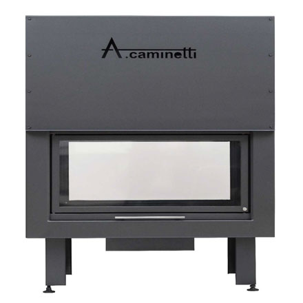 ACAMINETTI ITALY Wood Fireplace Horizon 146 Tunnel