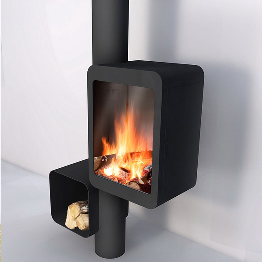 FOCUS Wood Fireplace Central Grappus