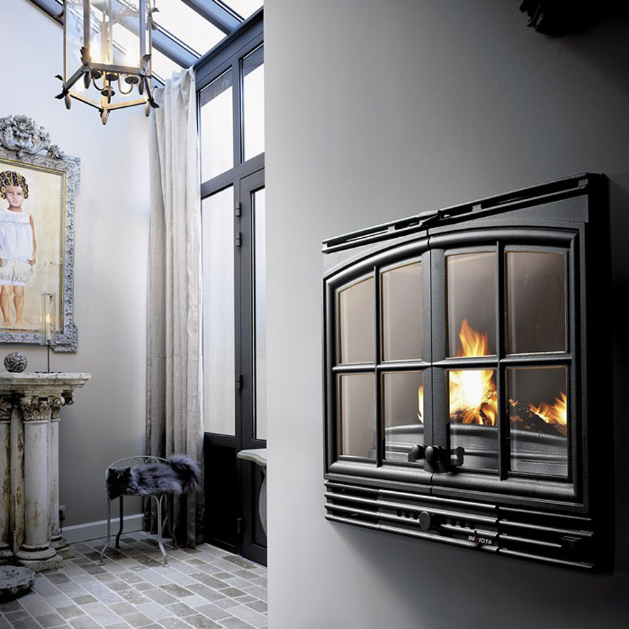 invicta fireplaces turbo double door 700 70 cm. Black Bedroom Furniture Sets. Home Design Ideas