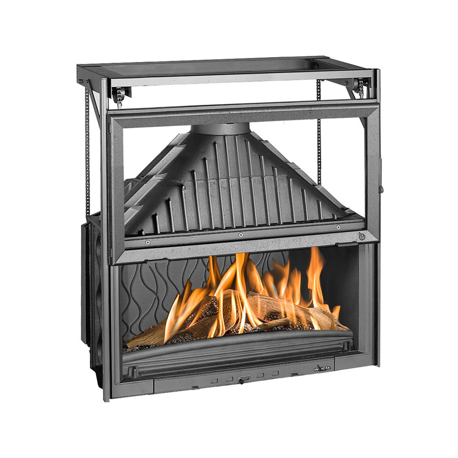 INVICTA FRANCE Wood Fireplace Wide 110 Raisable