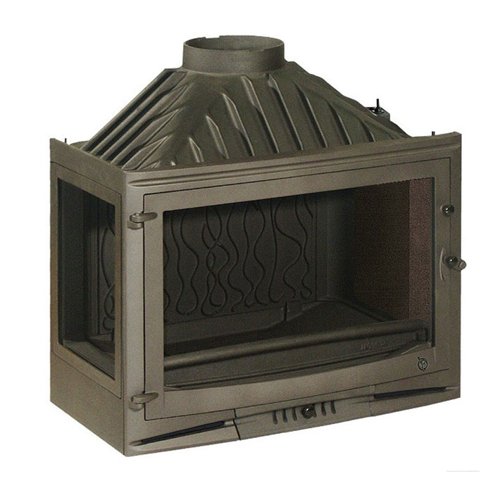 INVICTA FRANCE Wood Fireplace Corner Left 70 Selenic Lateral