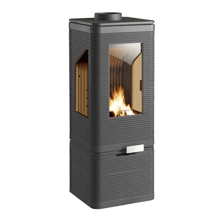 INVICTA FRANCE Wood Stove Iwaki sur Socle Vitre