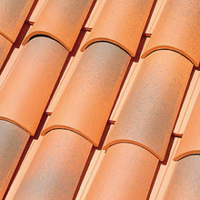 LA ESCANDELLA Roof Tiles Jaspee Red Curved
